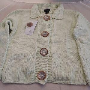 NWT Pure Handknit Sweater Mint Green XS Women's